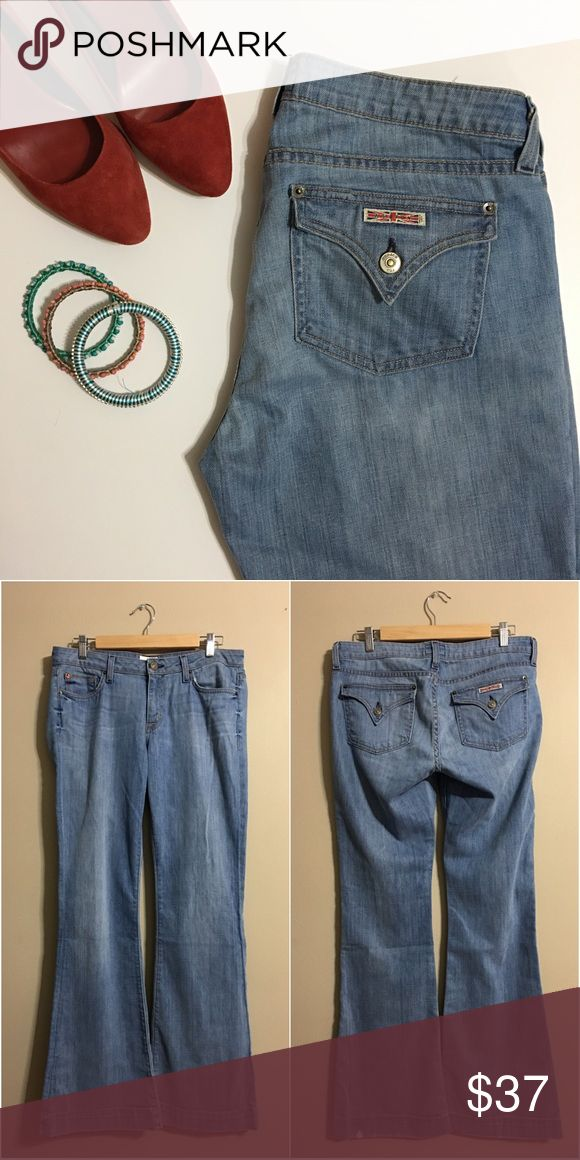 Hudson Jeans Light Wash & Flare Hudson Jeans Light Wash & Flare - Size 31. Pre-owned and do have some wear in the bottom (see photo). However they have lots of life left! Hudson Jeans Jeans Flare & Wide Leg