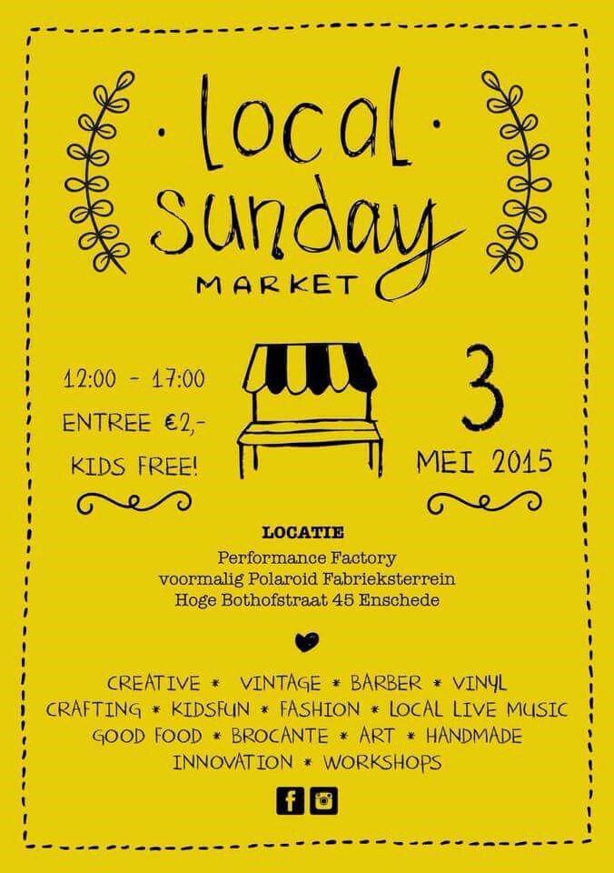 """""""Mijn schoonzus en ik """"  staan op de Local Sunday Market op 3 Mei .... Volg ons op www.facebook.com/mijnschoonzusenik"""