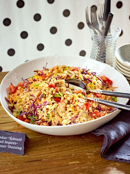Gemüse-Taboulé mit Ingwer-Erdnuss-Dressing