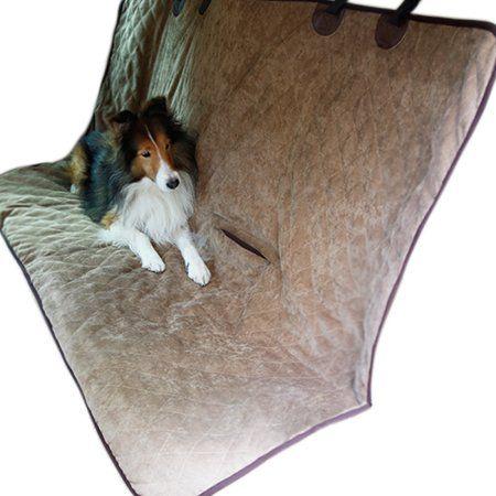 Double Side Waterproof Dog Car Rear Seat Cover Blanket Brown/Beige