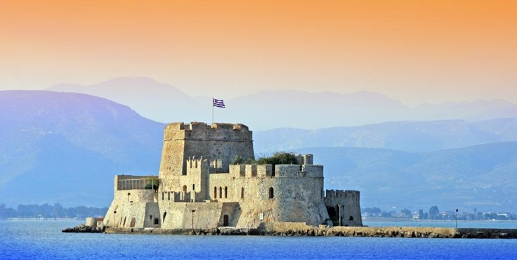 The famous Bourtzi Castle in Nafphlio, Greece
