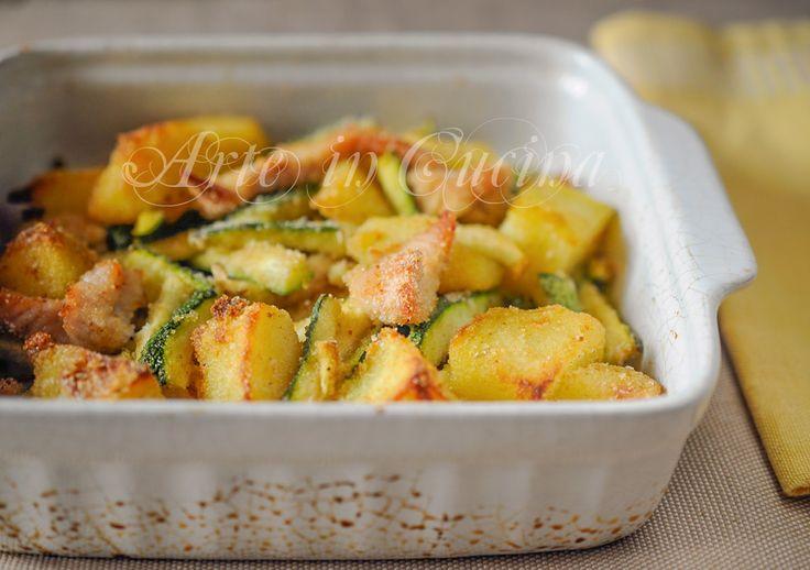 straccetti-pollo-patate-zucchine-gratinati-forno-ricetta-facile-1a | Arte in Cucina