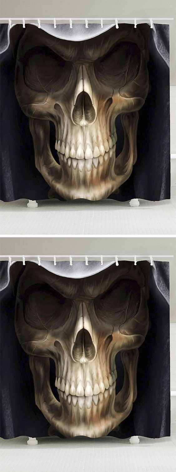 home decor:Skull Printed Halloween Shower Curtain