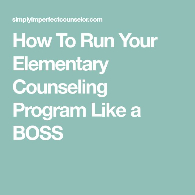 How To Run Your Elementary Counseling Program Like a BOSS