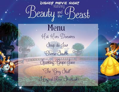 Family Movie Night: Beauty and the Beast with free printable
