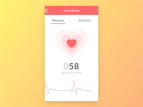 Heart Rate Monitor App & Animation on Behance