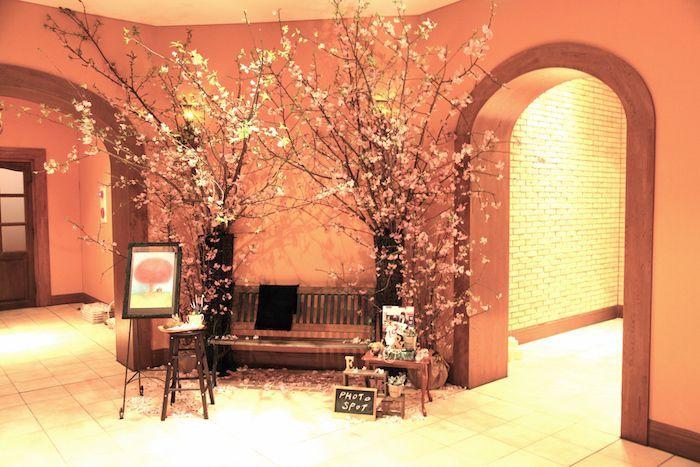 桜会場装花/花どうらく/ウェディング/Party /Wedding/decoration/http://www.hanadouraku.com/