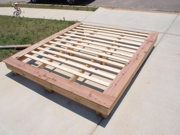 King Size Platform Frame using reclaimed wood. YES!