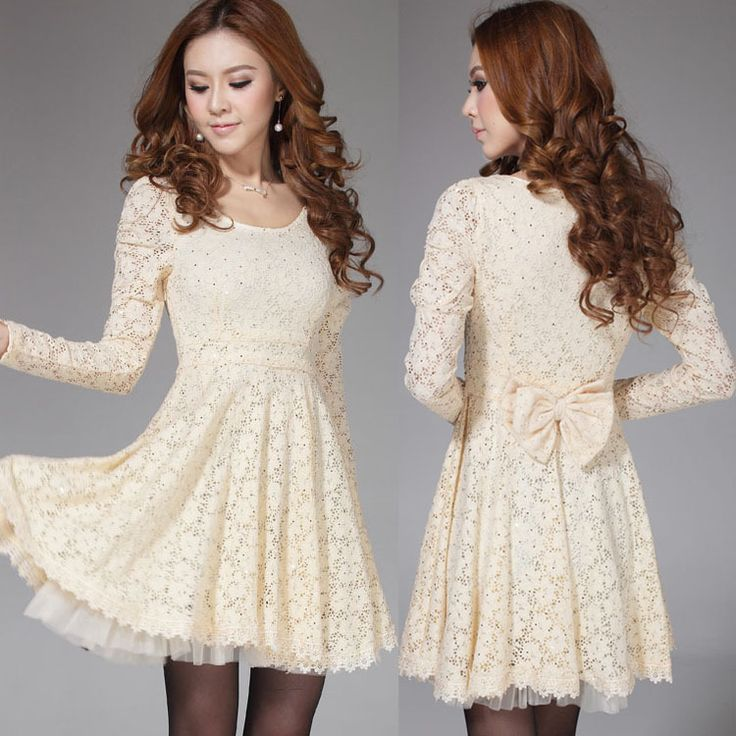 New 2014 Women Dress Chiffon Princess Dress Soluble Embroidery Gauze Full Sleeve Dress Slim lacing lady princess dress women US $25.55