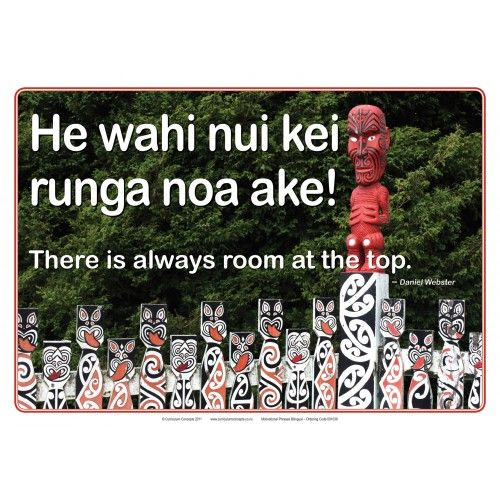 Bilingual Poster Set Maori Posters PB4L motivational