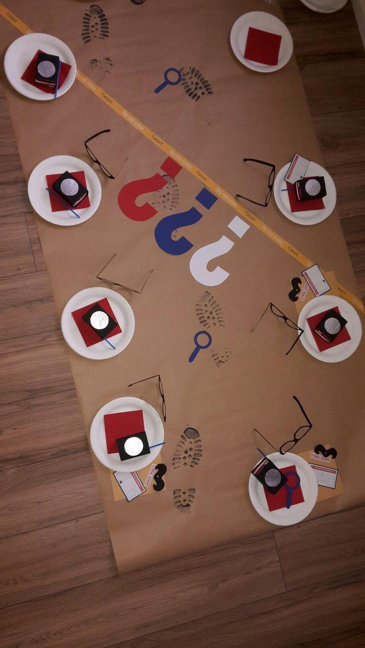 Detektiv-Party  Danke für diese tolle Idee zum Kindergeburtstag! Werden wir unb… – balloonas – Ideen für Deinen Kindergeburtstag