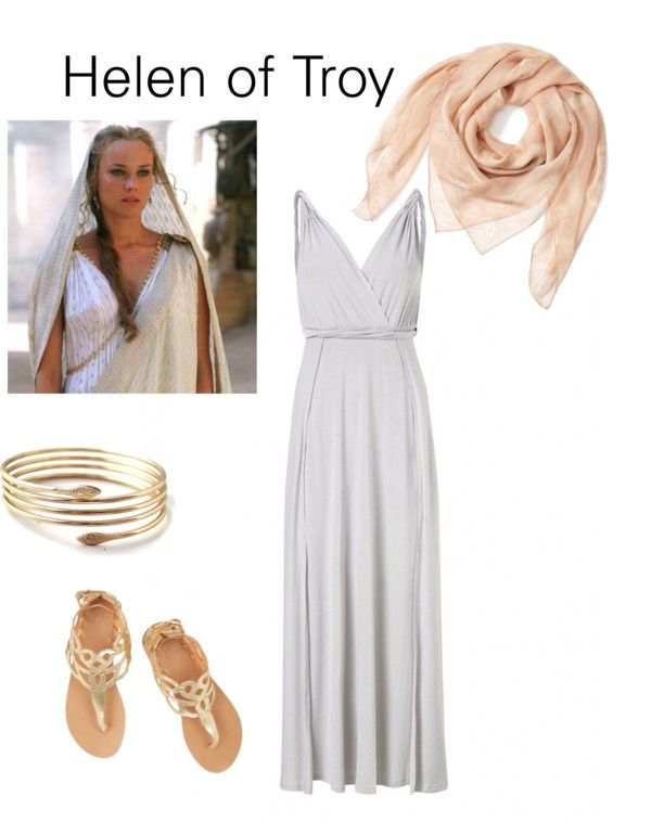 easy diy halloween helen of troy costume from clothes you