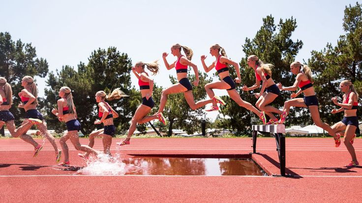 Instead of barriers that tip over, the steeplechase contains four immovable barriers and a 30-inch wall that is set in front of a 10-foot-long pool of water. Sound crazy? U.S. Olympic hopeful Emma Coburn shows how it's done.