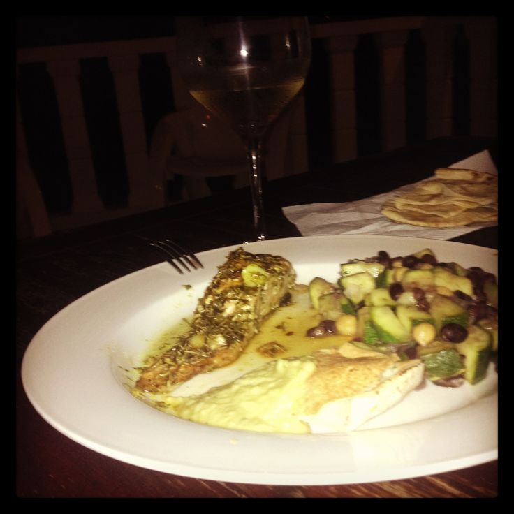 Zuchini beany surprise. Apple salmon delight. Topped with humus pita sides. Bon apetite! From: My Kitchen