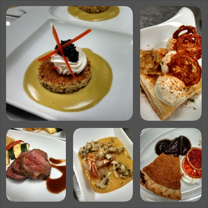 Fun creative plated hors d'oeuvres, entrees and desserts! #VarietyPlate #Weddings