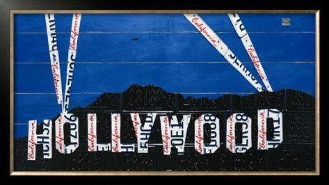 Hollywood Sign at Night Poster by Aaron Foster at AllPosters.com