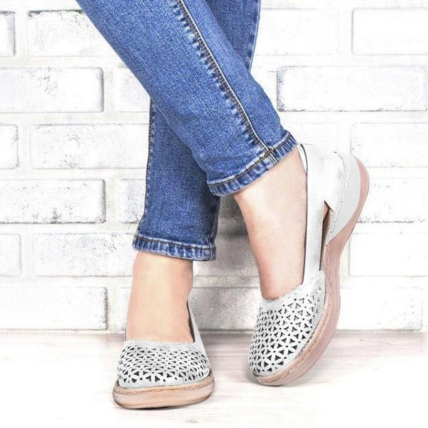 Ladies Spring Summer Low Heel Closed Pointed Toe Boot Sandals Flat shoes Hollow