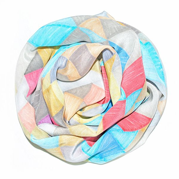 Pastel Prisms Silk Scarf – narrow | The Bell Jar