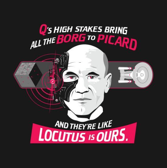 Locutus of Borg, Star Trek, Captain Picard, Resistance is Futile https://www.teepublic.com/t-shirt/1610502-star-trek-tng-picard-borg?store_id=93312 #startrek #startrekdiscovery #borg #locutus #enterprise #picard #trekker #trekkie #discovery #beammeup #data #worf