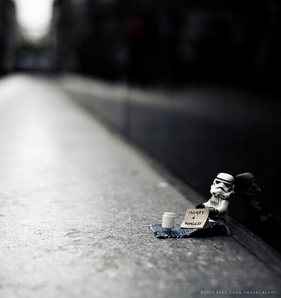 Lego Star Wars - After the Death Star is destroyed a Stormtrooper is left hungry and homeless