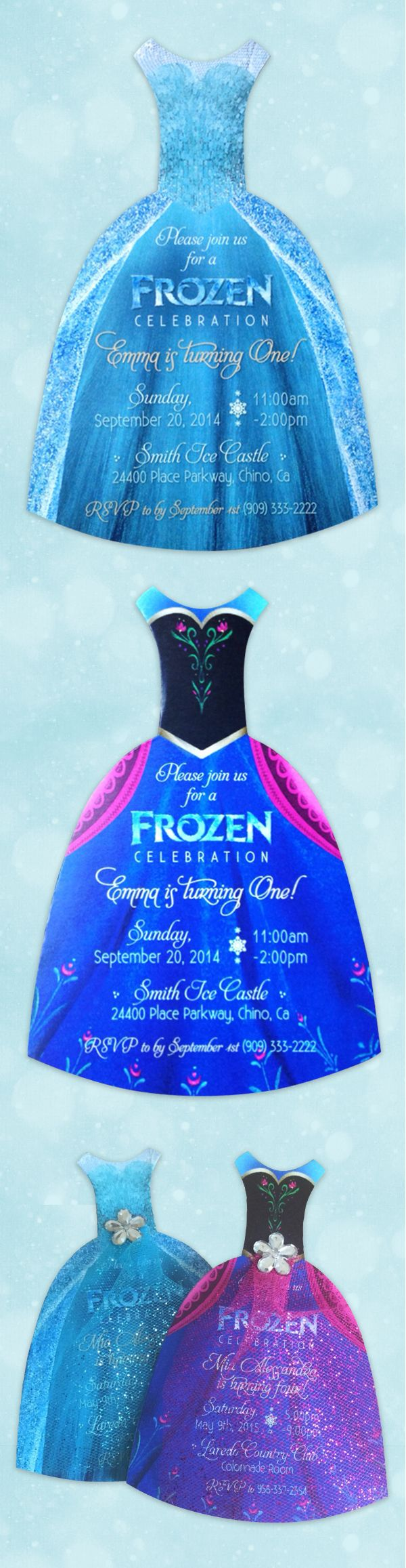 Frozen Party Invitation. Great Invite for your little girls Frozen themed Birthday Party!