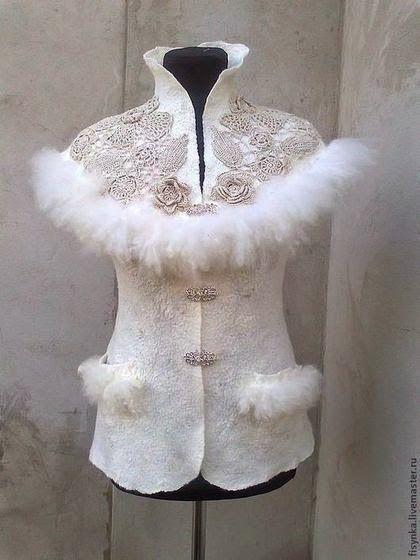 Irish crochet &: Svetlana Kuznetsova. Felt flower ideas