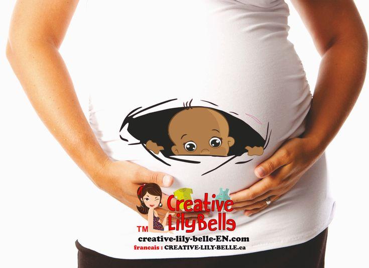 Chandail de maternité humoristique personnalisé BÉBÉ MULATRE cm221 de la boutique CreativeLilyBelle sur Etsy