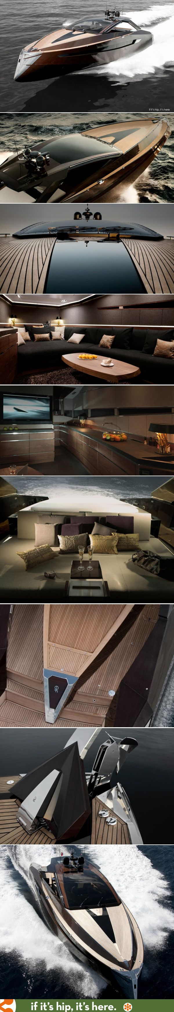 With its Rolls Royce water jets and exotic woods, the Hedonist Yacht is one of the most beautiful I've ever seen.