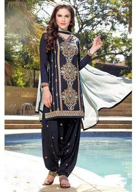 bleu coton couleur batiste patiala salwar kameez, - 85,00 €, #Salwarkameezfemme #Salwarkameezpascher #Salwarkameezenligne #Shopkund
