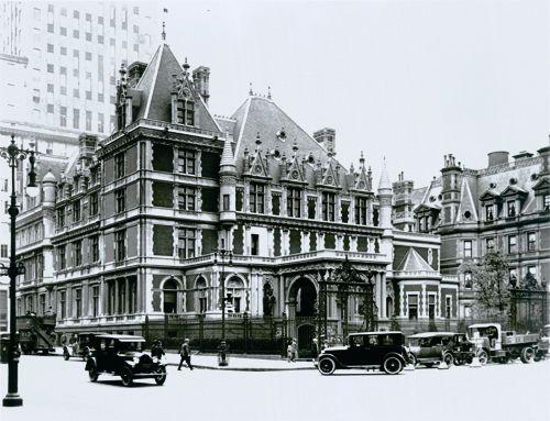 William Vanderbilt's Petit Chateau by Richard Morris Hunt was demolished in 1962 to make way for BG
