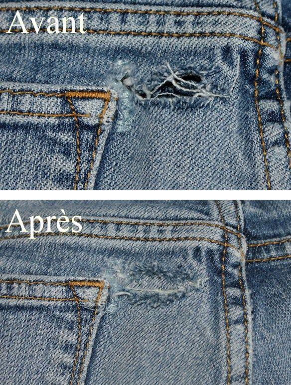Tuto : comment réparer son vieux jeans.
