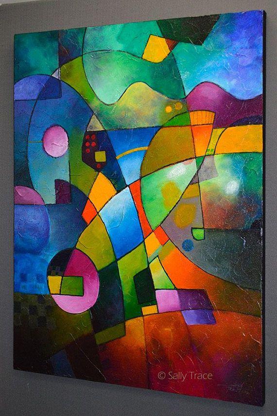 Résumé original texturé peinture impasto moderne art peinture