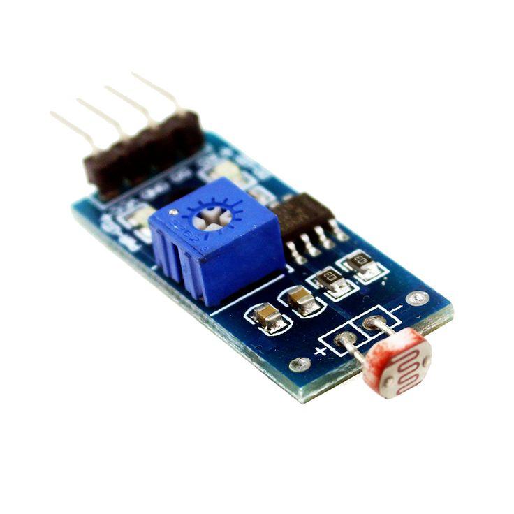 Encontrar Más Circuitos integrados Información acerca de Inteligente Electrónica LM393 Óptico Sensible Resistencia Fotosensible Detección de Luz Del Módulo Del Sensor para Arduino pines Kit DIY, alta calidad módulo de potencia, China lm393 Proveedores, barato lm393 ic de S+S+S+ en Aliexpress.com