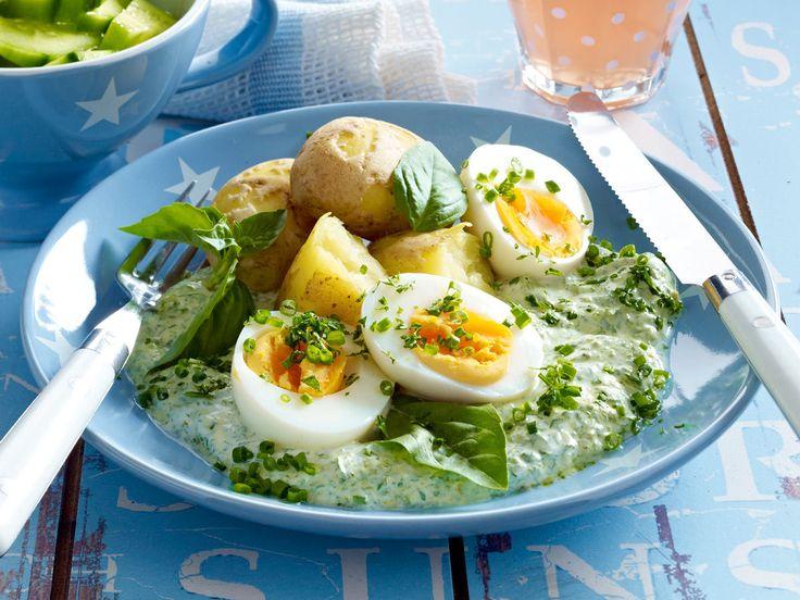 Was koche ich heute? - eier-gruene-joghurtsosse  Rezept
