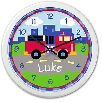 Kids personalized transportation clock by Olive Kids!