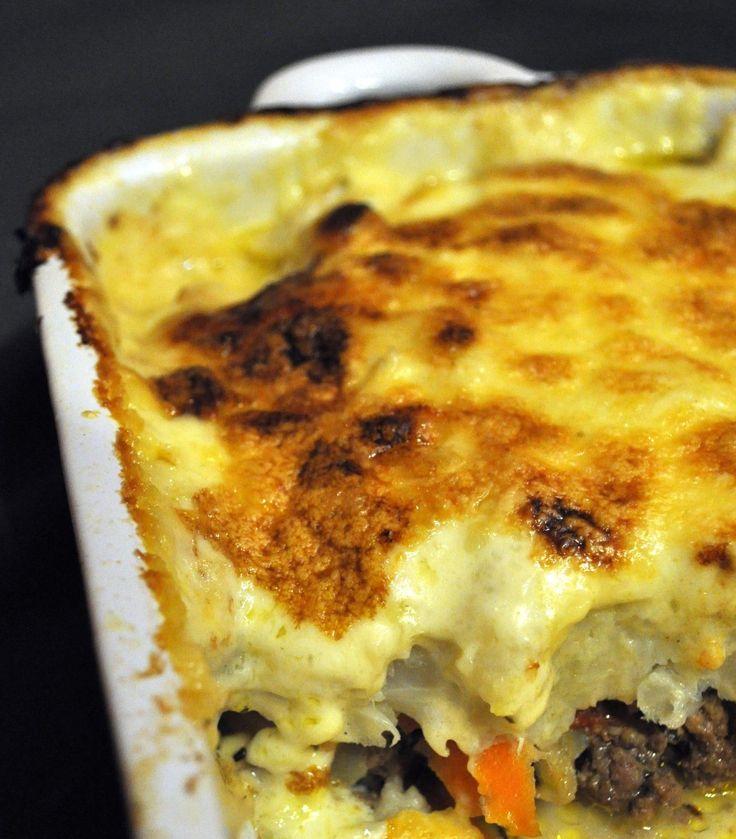 Gratin de chou-fleur sur lit de viande hachée - Blog cuisine avec du chocolat ou Thermomix mais pas que