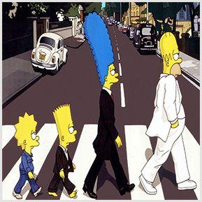Simpsons & The Abbey Road - Quadrinhos confeccionados em Azulejo no tamanho 15x15 cm.Tem um ganchinho no verso para fixar na parede. Inspirado na capa dos disco clássico dos Beatles. Para entrar em contato conosco, acesse: www.babadocerto.com.br