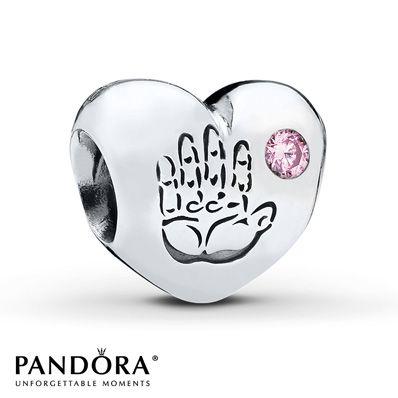 Pandora Charm Baby Girl Pink CZ Sterling Silver