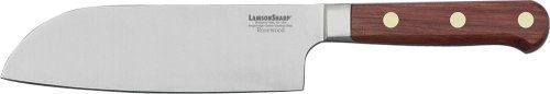 LamsonSharp 7-Inch Forged Santoku Knife by LamsonSharp. Save 30 Off!. $69.99. Made in the USA. Hardened and tempered high-carbon stainless steel. Comes with free knife blade protector KnifeSafe. Sharp for Life?Guarantee. One-piece forged, full tang blades. The LamsonSharp Rosewood Forged Cutlery Series features a one-piece, forged, full tang blade made of hardened and tempered high-carbon stainless steel from Soligen, Germany.  The Oiled Rosewood hadles are naturally hard and he...
