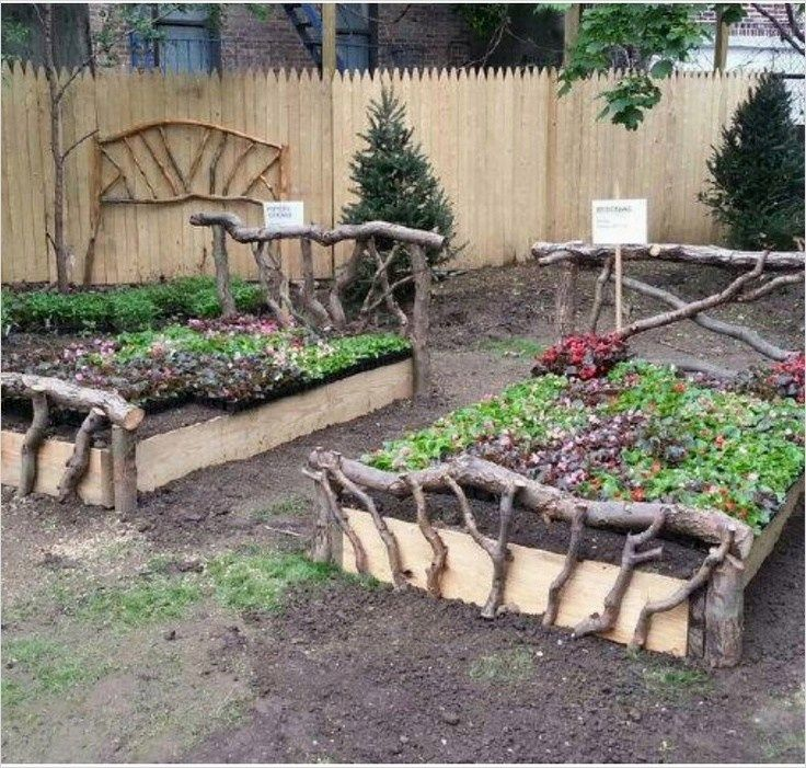 Rustic Garden Ideas 42 Rustic Gardens Garden Beds Backyard