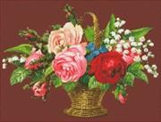 Gratis borduurpatroon bloemenmand