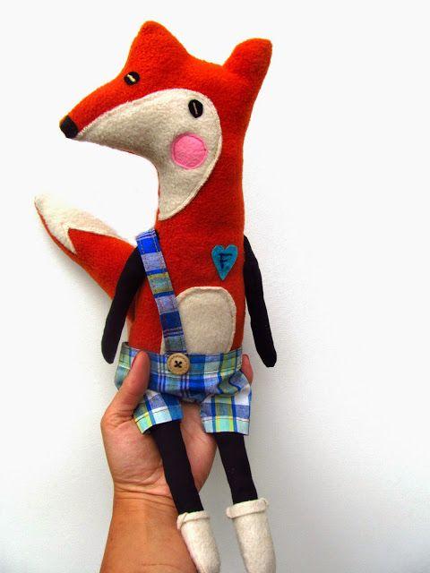 polandhandmade.pl #polandhandmade #toys #fox , design by agatownik
