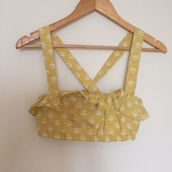 cheery yellow bandeau top with adjustable straps Only worn once! Steven Alan cotton top looks amazing with high waisted skirt. In perfect condition Steven Alan Tops Crop Tops