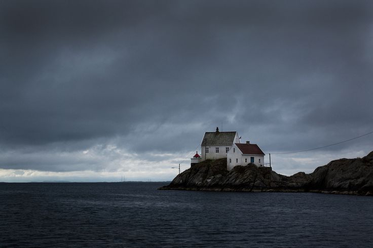 This house on a peninsula in Skudeneshavn, Rogaland Fylke, in Norway. | 19 Beautifully Isolated Places Where You Can Finally Get Some Peace And Quiet