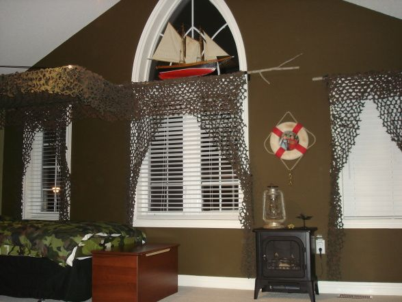 little boys hunting rooms | Outdoor camo room - Boys' Room Designs - Decorating Ideas - HGTV Rate ...