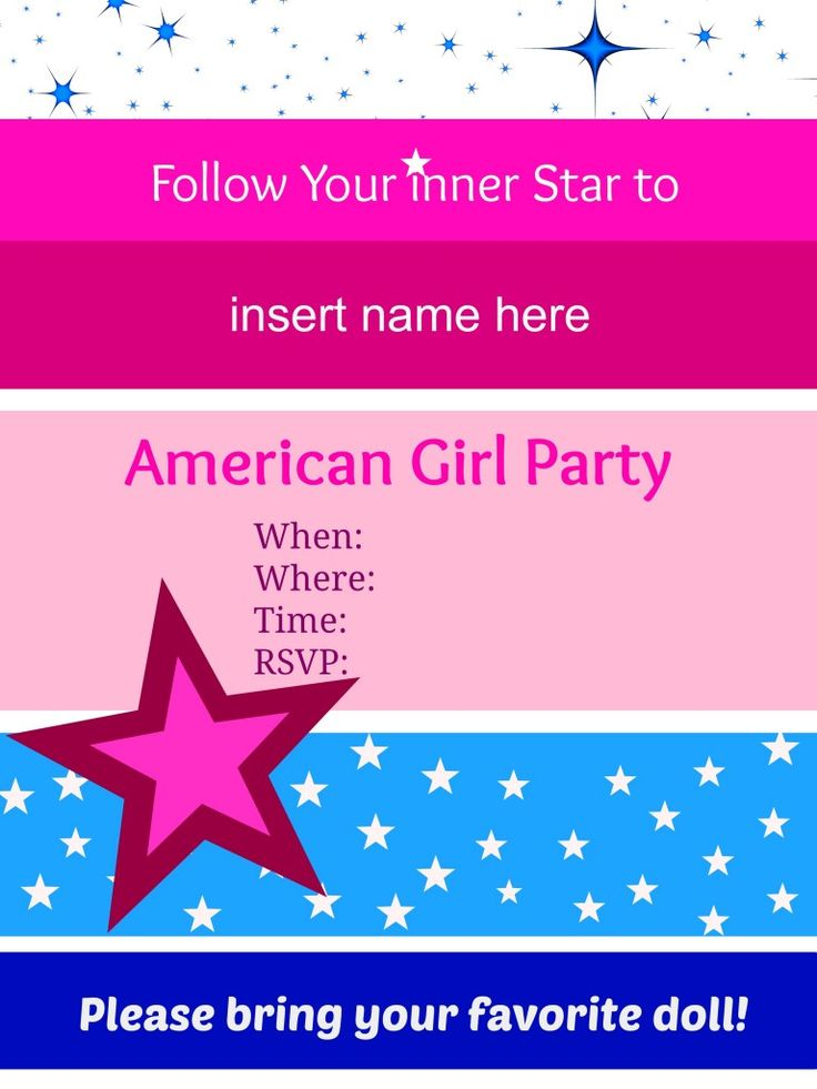 14 best american girl doll birthday party images on pinterest, Party invitations