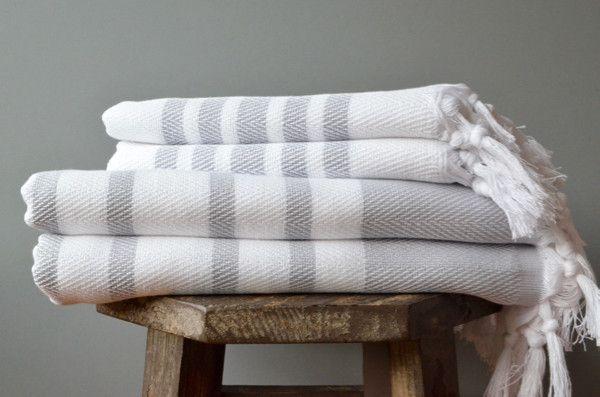 Herringbone Turkish Bath Towel - Eco-friendly Turkish Hammam Towel | Indigo Traders
