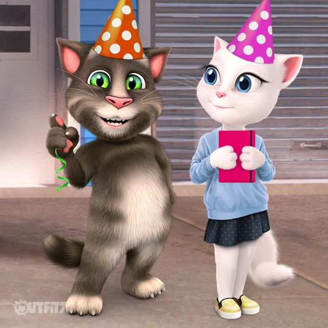 Thank you for the help, my #LittleKitties! Who can guess which idea for Talking Hank's birthday party won? xo, Talking Angela #TalkingAngela #TalkingTom #TalkingHank #TalkingBen #TalkingGinger #TalkingFriends #party #surprise #birthday