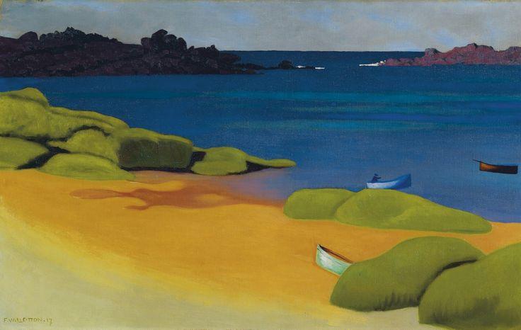Félix VallottonRade à Trégastel, 1917 Swiss Art