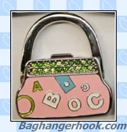 Handbag Shaped Enamel Designed Foldable Bag Hanger/Purse Hanger/Handbag  Hook/Purse Hook